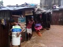 Más de 100 menores entre los fallecidos por las inundaciones en Sierra Leona
