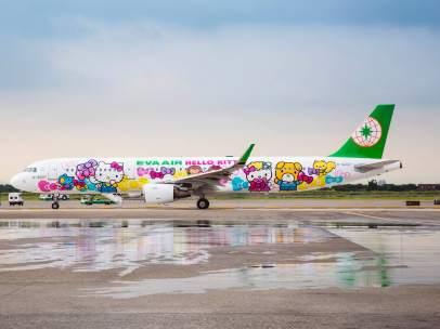 Avión Hello Kitty de Eva Air