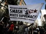Protestas en contra de la marcha supremacista en Virginia