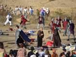 Recreación de la batalla de Atapuerca.