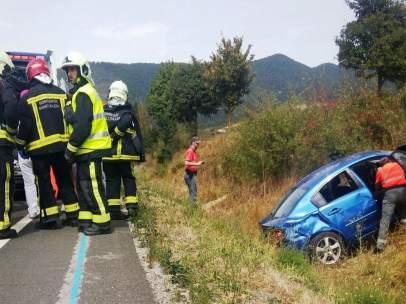 Imagen del accidente en Sorauren