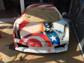 El coche de 'Capitán América'