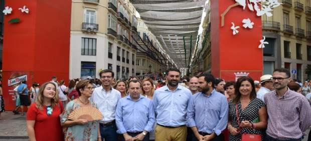 Consejero de Turismo en Feria del Centro de Málaga