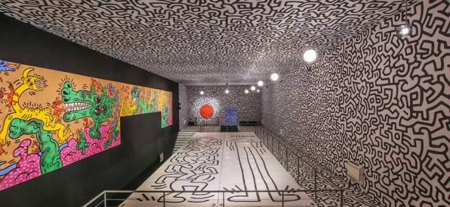 Una de las instalaciones con la obra de Keith Haring