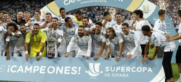 El Madrid, con la Supercopa.