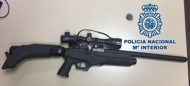 Arma incautada al presunto homicida de La Laguna (Tenerife)