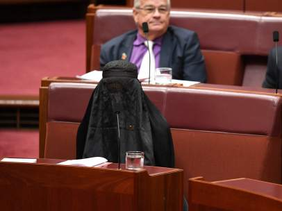 Pauline Hanson, burka, parlamento, Australia