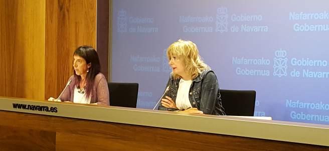 Mertxe Leranoz y Ana Ollo.