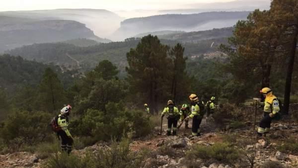 Trabajos en incendio Yeste