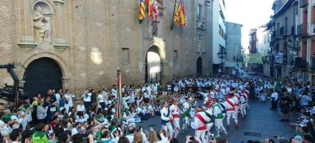 Danzantes en las Fiestas de San Lorenzo