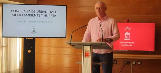 Navarro durante la presentación de la Feria de la Cosecha