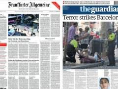 El atentado de Barcelona llena las portadas de los principales diarios de todo el mundo