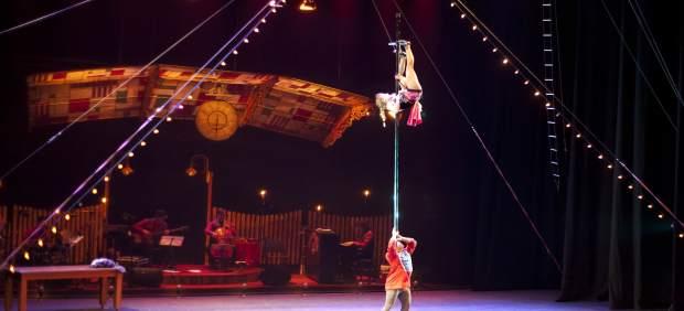 El Circo Gran Fele en uno de sus espectáculos