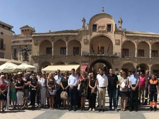 Concentración en Lorca por los atentados