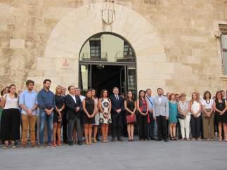 Concentración en el Palau de la Generalitat