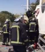 Bomberos intervienen en la zona