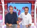 Manu Carreño y Juanma Castaño en 'Noticias Cuatro Deportes'