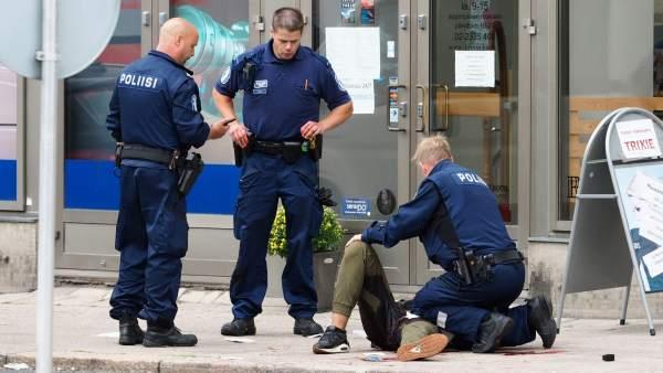 Apuñalamiento en Finlandia