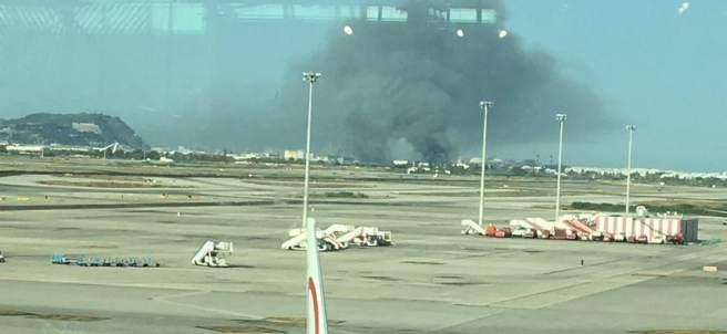 Incendio cerca de El Prat