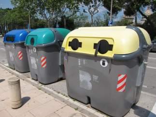 Contenedores de residuos en Barcelona