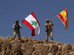 El Ejército libanés ondea la bandera española tras reconquistar territorios de EI