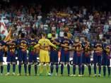 Homenaje en el Camp Nou a las víctimas