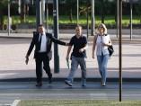 Francesco Arcuri, ex de Juana Rivas, llega al juzgado de Granada