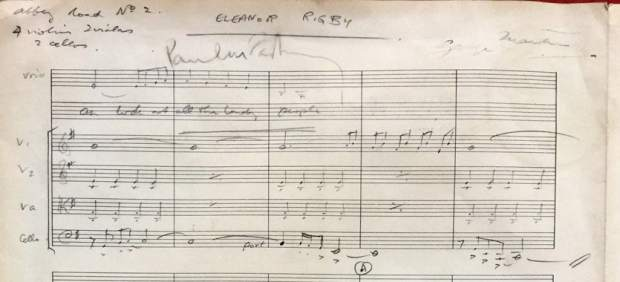 Sale a subasta la partitura original del tema 'Eleanor Rigby' de los Beatles