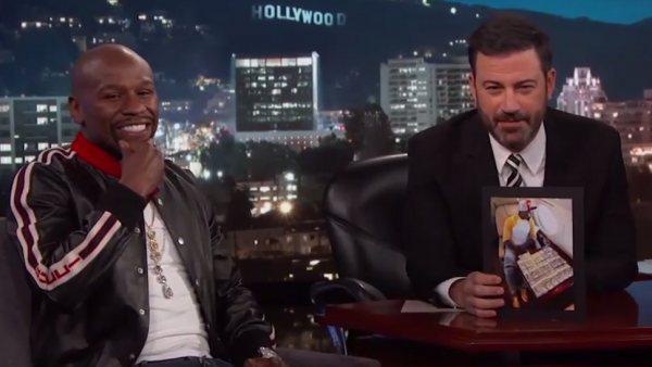 Floyd Mayweather vacila a Jimmy Kimmel