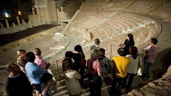 Nota/ El Museo Del Teatro Romano De Cartagena Organiza Una Visita Nocturna Para