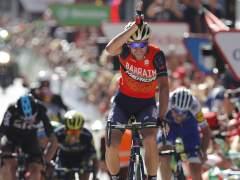 Nibali celebra el triunfo