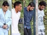 Chemlal, Driss Oukabir, Salah El Karib y Mohamed Aallaa