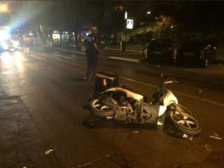 Fallece un anciano tras ser atropellado por una motocicleta en Moratalaz