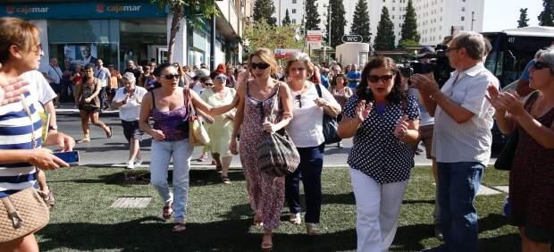La hermana de Juana Rivas llega a los juzgados de Granada