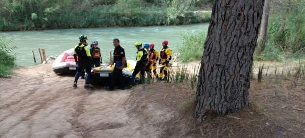 Dispositivo de búsqueda del menor en el río