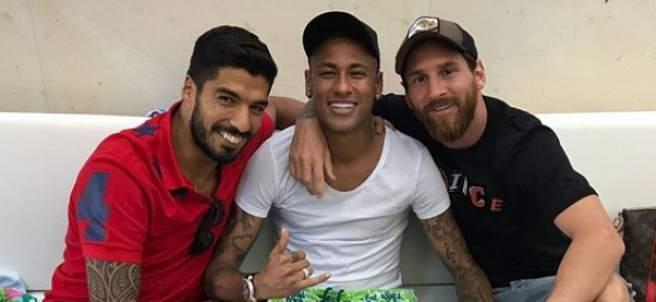 Luis Suárez, Neymar y Messi
