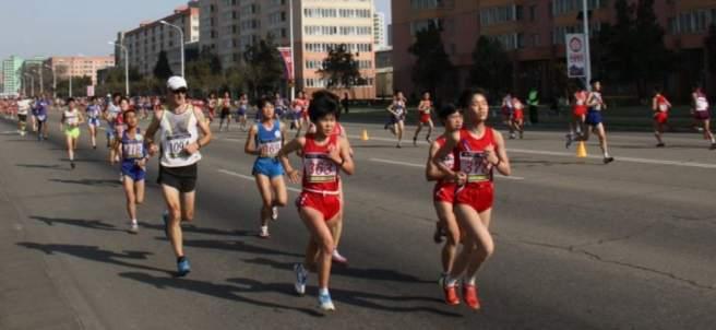 Imagen del maratón de Pyongyang