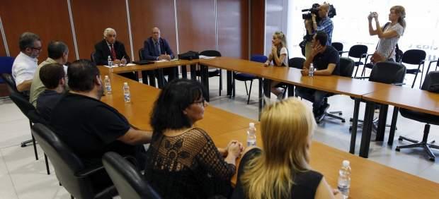 Marcos Peña en la reunión con Eulen
