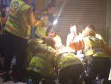 Atendiendo a un herido en Madrid
