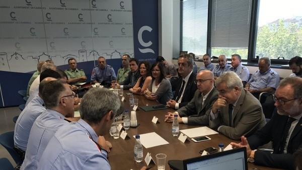 Junta Local de Seguridad Cambrils: conseller Joaquim Forn,alcaldesa Camí Mendoza