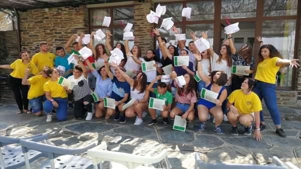 Alumnos del curso de inmersión en lengua inglesa de Iberdrola