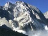 Deslizamiento de rocas en un valle suizo