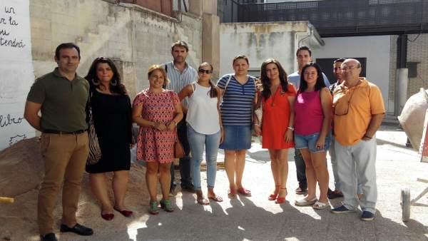 Visita a las obras de reforma en el colegio San Isicio.
