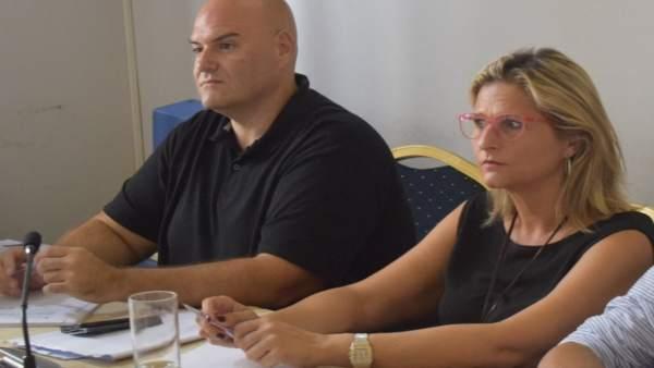 Sergio Brenes y Lorena Doña ,ediles del PSOE en el Ayuntamiento de Málaga