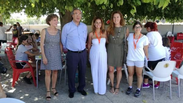 Martí March visita a los alumnos del campamento de verano