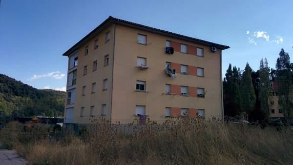 Edificio de Ripoll en los que vivían Driss y Moussa Oukabir, y los Hychami