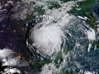 El huracán Harvey desde el espacio