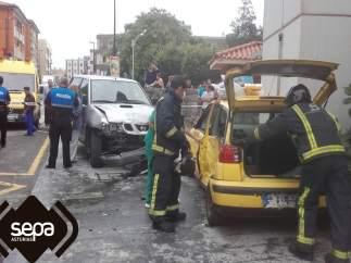 Los dos vehículos accidentados