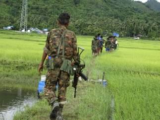 Enfrentamientos en Birmania