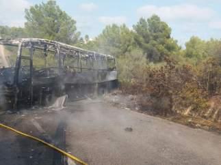 Incendio en Calas de Mallorca